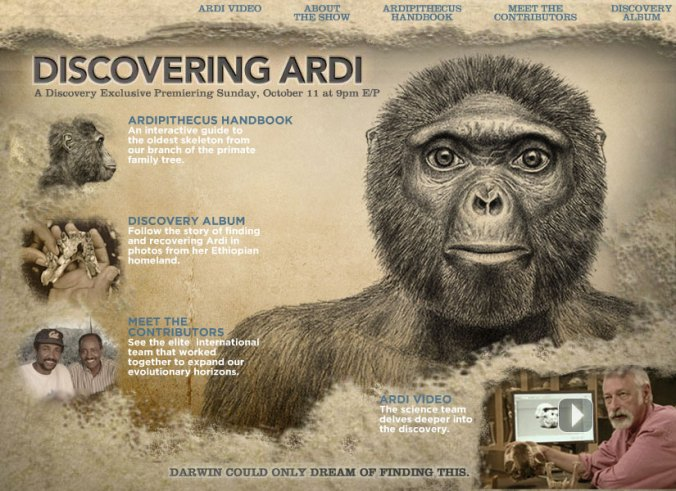 Click here to visit the Discovering Ardi website!
